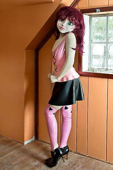 Redhead/Pink & Black Outfit/Orange Room, 2014
