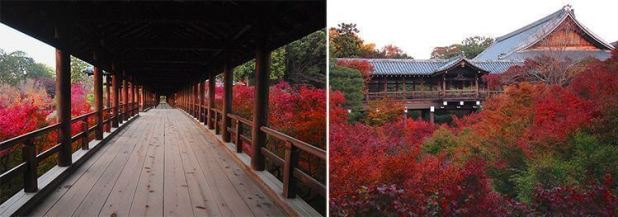 Puente Tsūtenkyō. Jardines del templo Tōfuku-ji.