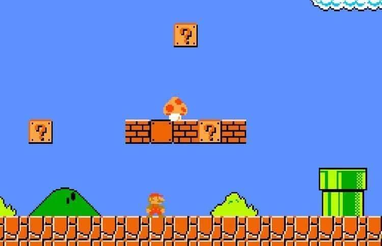 Super Mario Bros. 1985. Nintendo Entertainment System (NES).