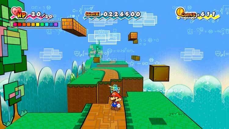 Captura de pantalla de Super Paper Mario (Nintendo Wii, 2007)