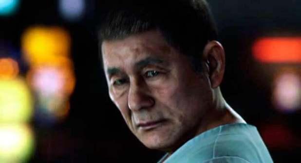 Takeshi Kitano en Yakuza 6 (las imágenes como esta, que podéis encontrar en la Red, son en realidad capturas de un avance en vídeo del videojuego procedente del Tokyo Game Show de 2015).
