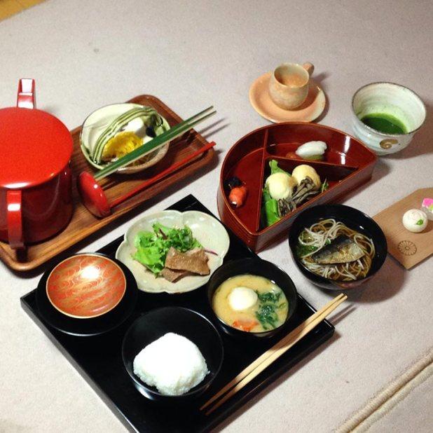Otro washoku (cha-kaiseki) está hecho para tomar el té.