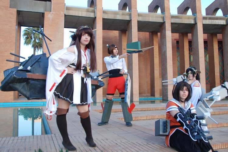 El cosplay fue esencial en Mangafest (cosplayers del juego online Kantai Collection en el evento).