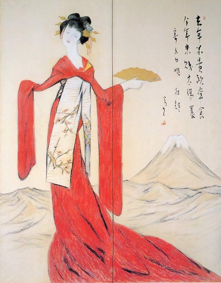 Tatutahime (1931) en Museo del Arte de Yumeji.