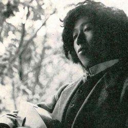 Un retrato de Yumeji Takehisa.