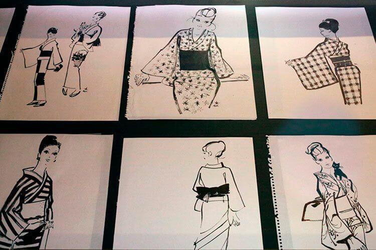 Las mujeres en kimono por Miyuki Morimoto.