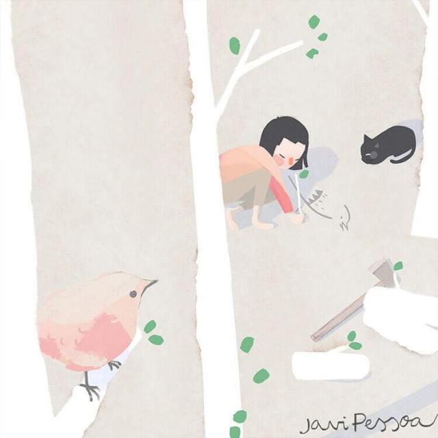 Una ilustración de «Las palomas pasajeras».
