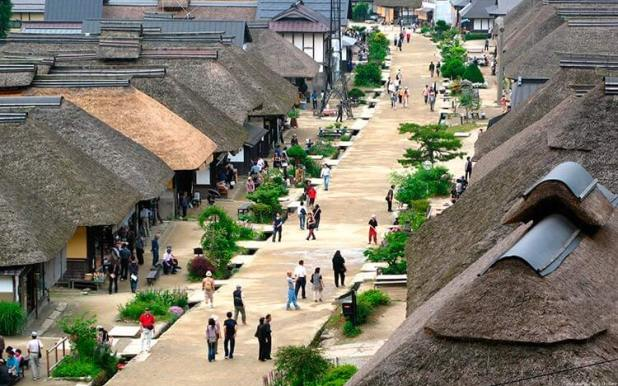 Ōuchijuku de Fukushima conserva el paisaje de la era Edo.