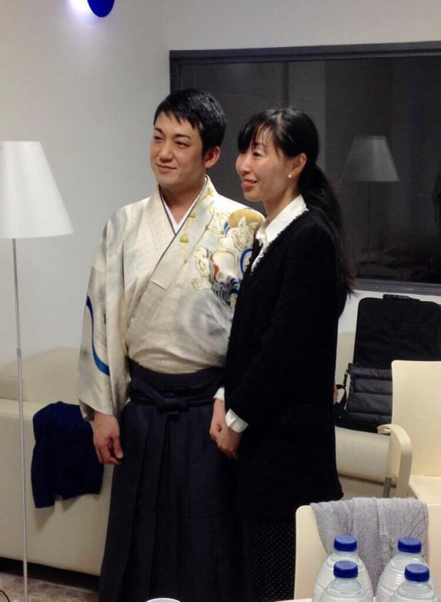 Kenichi Yoshida y mi servidora.