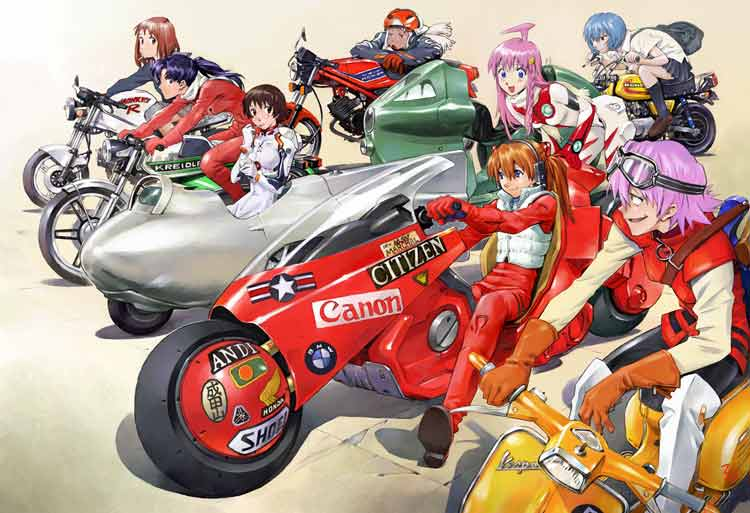 Algunos personajes de Sadamoto