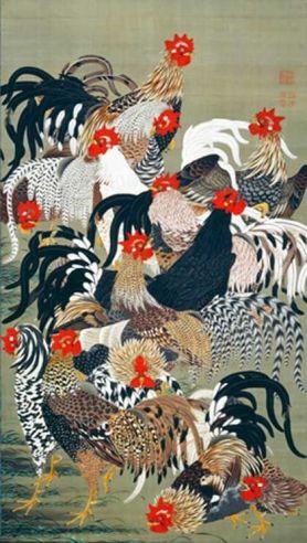 Ito Jakuchu, gallo doméstico