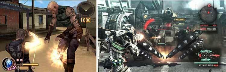 God Hand para Playstation 2 (2006) y Vanquish, de 2010, para Playstation 3 y Xbox 360.