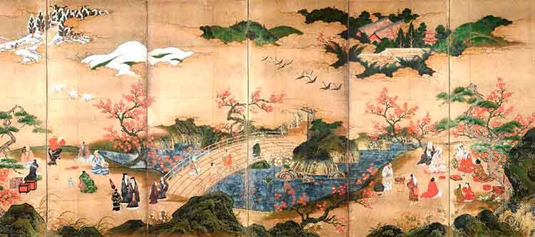 Los espectadores del arce, de Kano Hideyori
