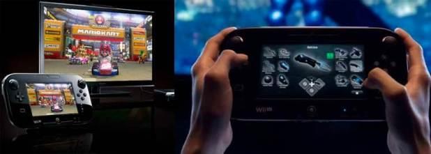 Nintendo WiiU. A la derecha, podemos ver cómo el videojuego Batman: Arkham City, hace uso del mando pantalla de dicha consola para manejar el inventario de Batman y demás personajes manejables.