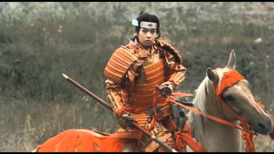 """Fotograma de la película: """"Kagetora: El Guerrero"""" Yae, concubina de Takeda Shingen."""