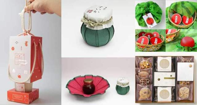 Packaging actual inspirado en furoshiki