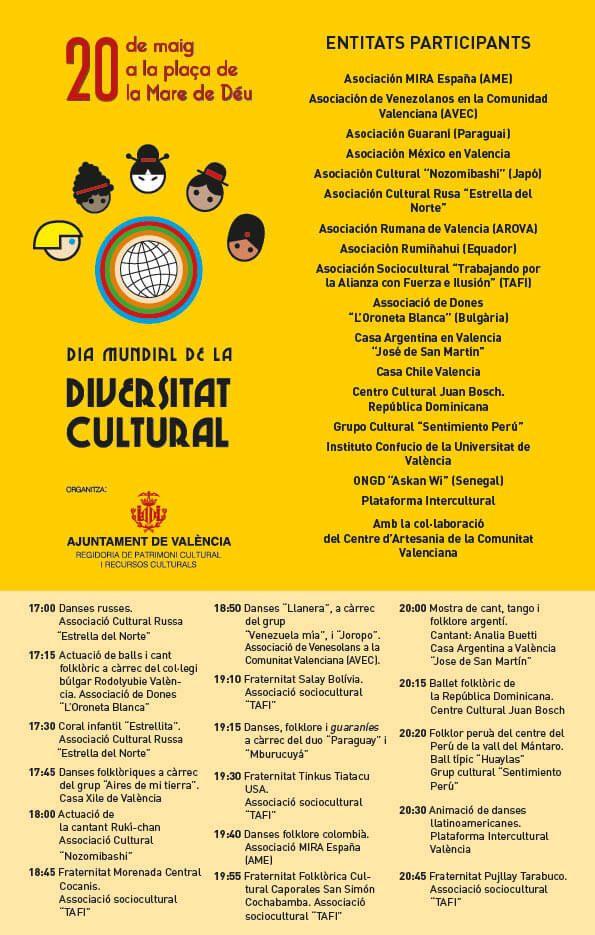 Día mundial de la Diversidad Cultural en Valencia