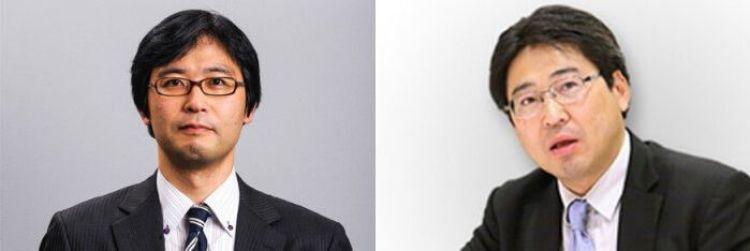 Los professores Sochi Naraoka (izquierda) y Shin Kawashima (derecha).