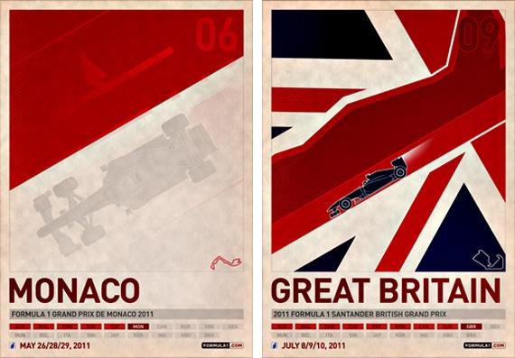 2011 formula 1 grand prix posters