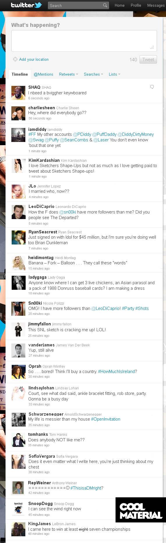 If Celebrity Tweets Were Honest