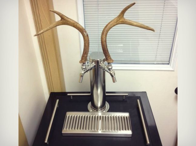 deer-antler--tap-handle