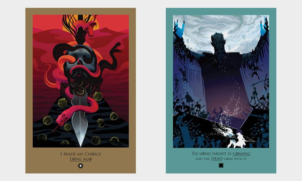 hbo game of thrones posters cool material