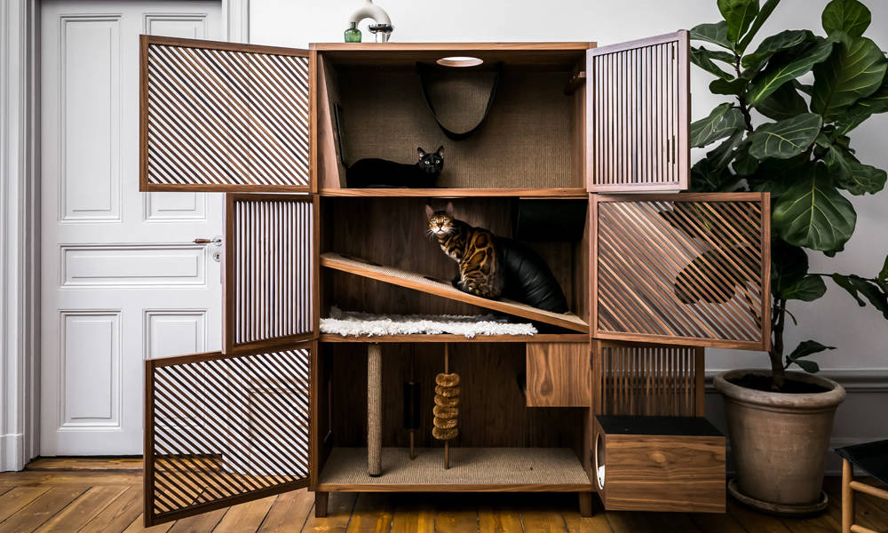 The Cat Flat Is The Best Looking Cat Playhouse We Ve Ever Seen Cool Material