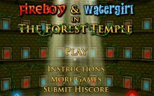 Fireboy and Watergirl 1 in the Forest Temple