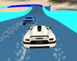 Water slide cars game