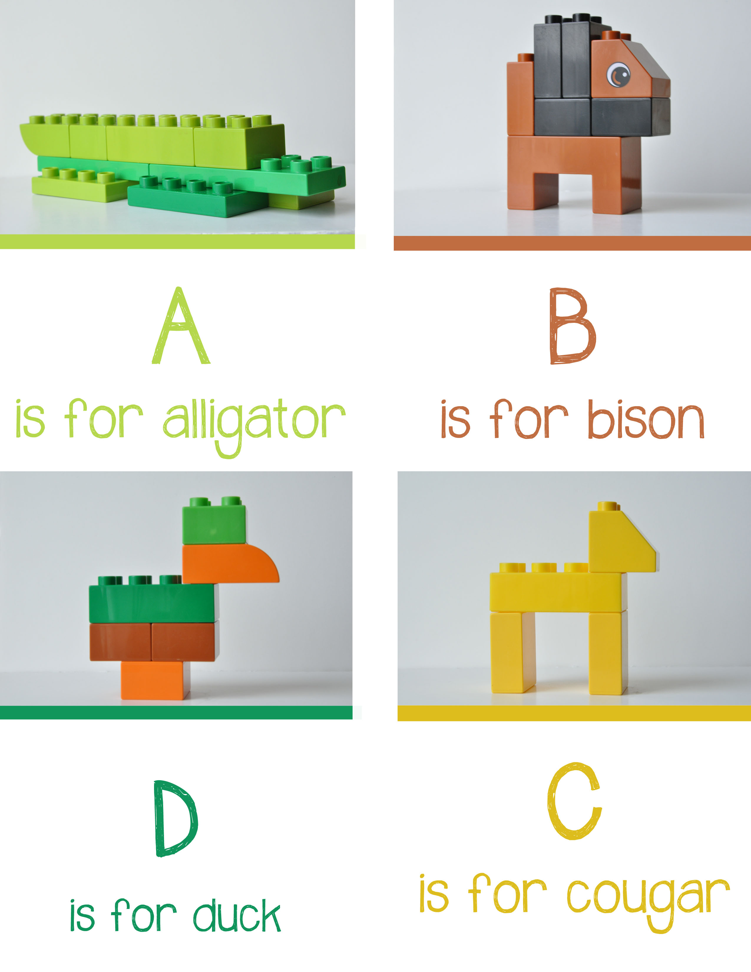 Lego Animal Alphabet From Playlearnlove