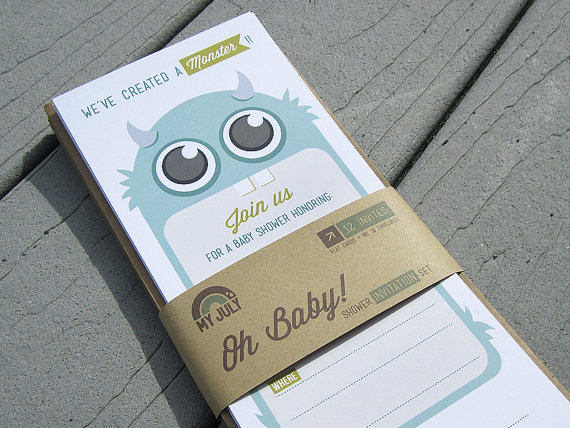 We Ve Created A Monster Baby Shower Invitation My July Etsy Cool Mom