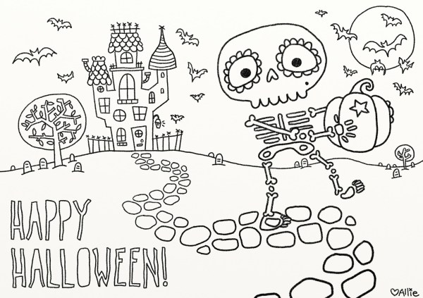 free halloween printable coloring pages # 3