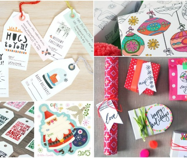 A Great Big List Of  Of The Best Free Printable Gift Tags And Gift Wrap