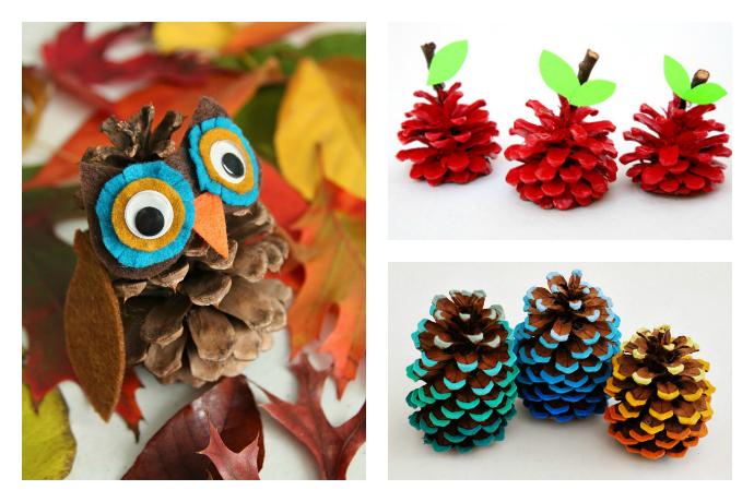 6 Adorable Pinecone Crafts. Hello, Fall!
