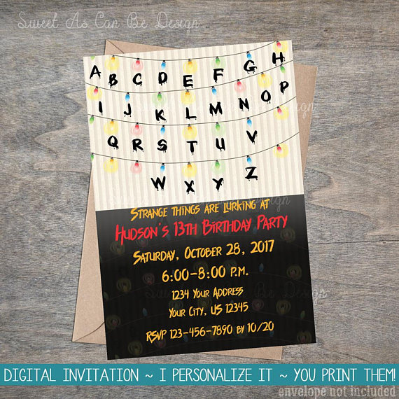 Paper Birthday Invitations