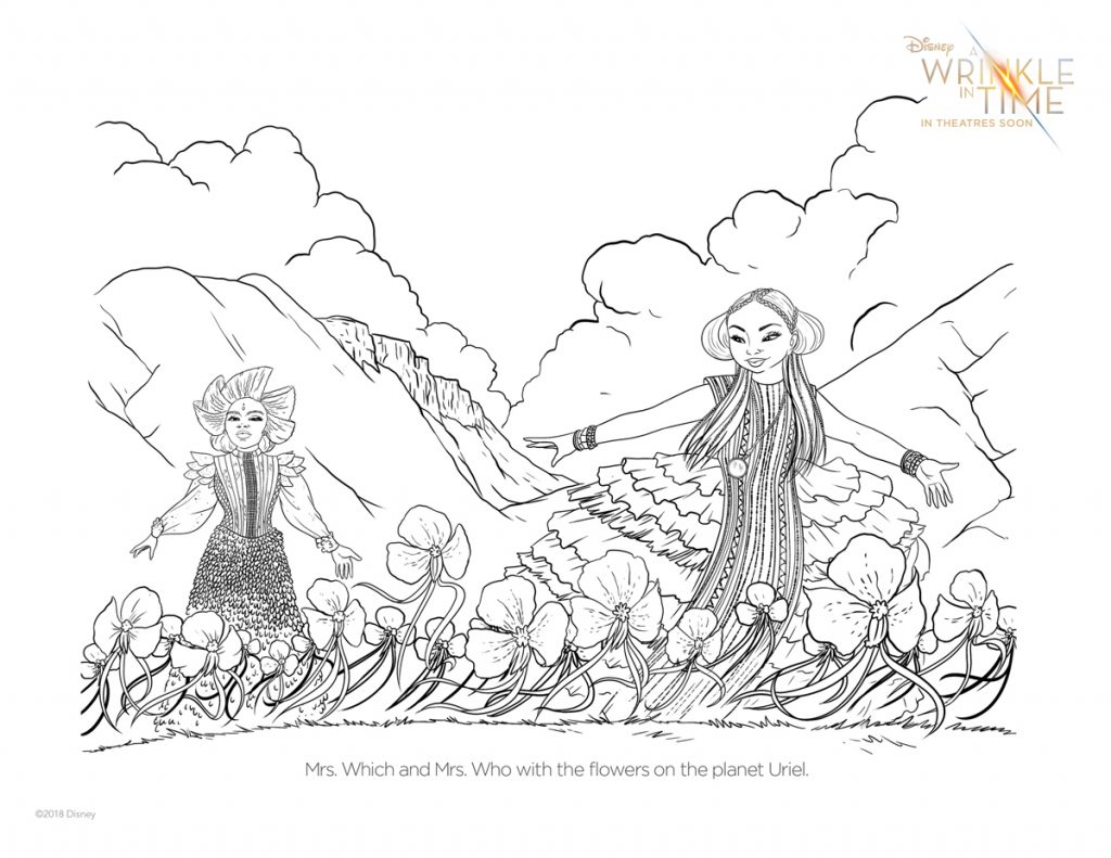 Free A Wrinkle In Time Coloring Pages Activity Sheets