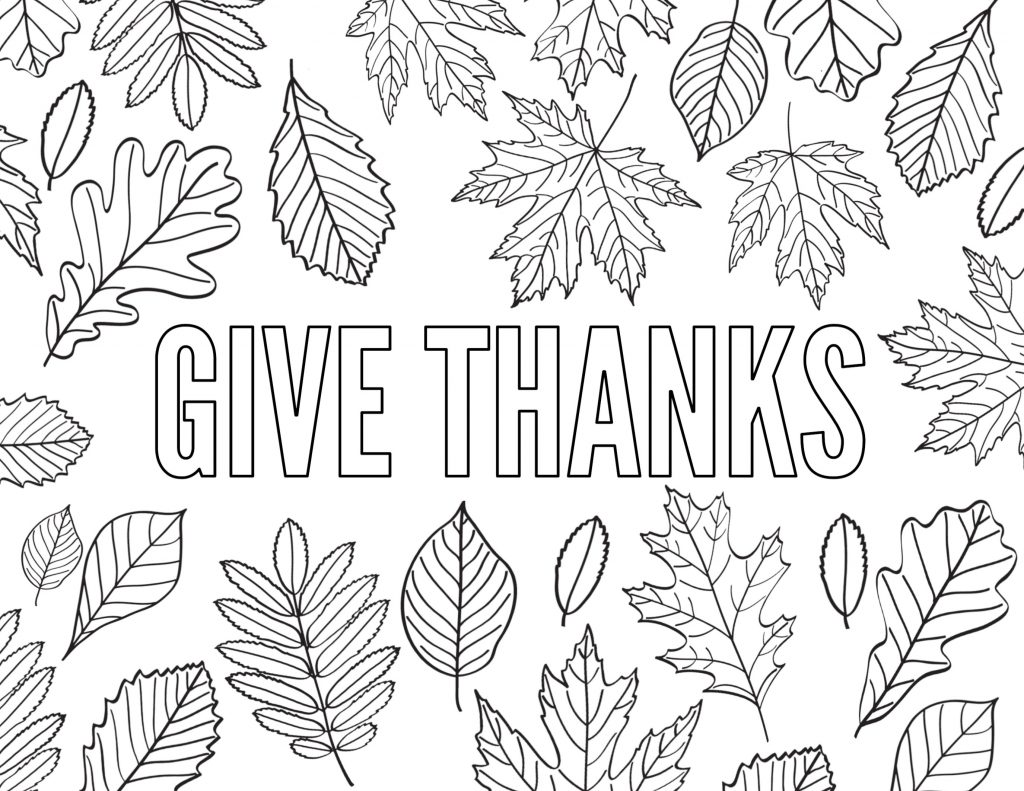 Free Thanksgiving Coloring Pages To Help Children Express