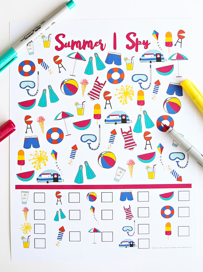 beautifully illustarted free summer coloring pages for kids