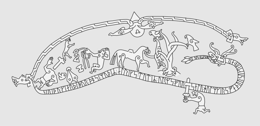 ramsund runestone carving