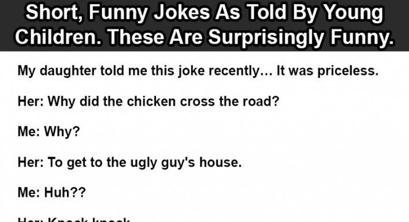 Short Funny Jokes Kids