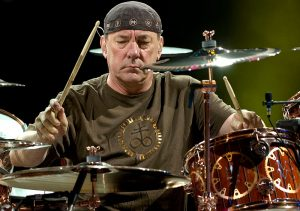 """Neil Peart jams during an evening with Rush as they perform during their Time Machine Tour stop August 16, 2010 at Red Rocks Amphitheatre. John Leyba, The Denver Post"""
