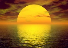 sunset-big-sun-in-water