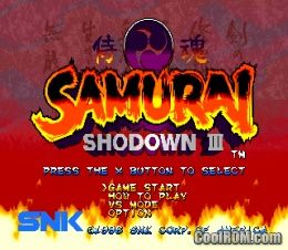 Samurai Shodown III Blades Of Blood ROM ISO Download