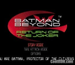 Batman Beyond - Return of the Joker ROM (ISO) Download for Sony Playstation / PSX - CoolROM.com