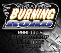 Burning Road Sampler ROM (ISO) Download for Sony Playstation / PSX - CoolROM.com