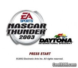 NASCAR Thunder 2003 ROM (ISO) Download for Sony Playstation / PSX - CoolROM.com