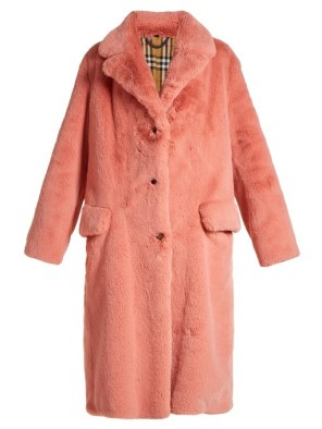 BURBERRY / Faux Fur Single-Breasted Coat / $2,195