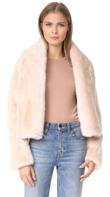 CEDRIC CHARLIER / Cropped Faux Fur Jacket / $1,995