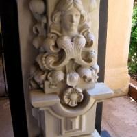 Rescued art in Balboa Park's Casa del Prado.