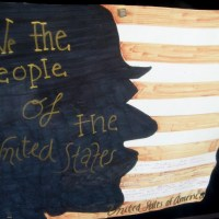 Student posters celebrate United States Constitution.